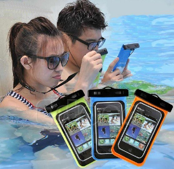 1 X Blue Waterproof Bag Underwater Pouch Dry Case Cover For Cell Phone Samsung