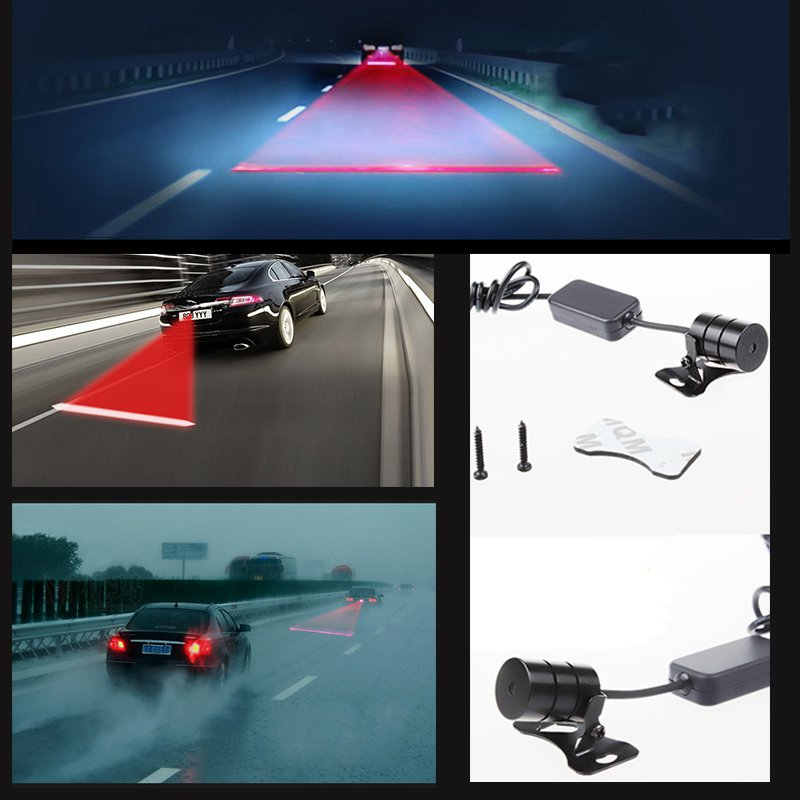 Car LED Laser Fog Light Warning Signal Taillight Bulb Lamp For Cars
