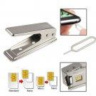 Standard Micro Nano Sim To Apple iPhone 5 5S 5C 5th Card Cutter+2 Adapter