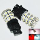 12V 3157 3457 3057 60 SMD LED Red White Turn Signal Switchback Light Lamp