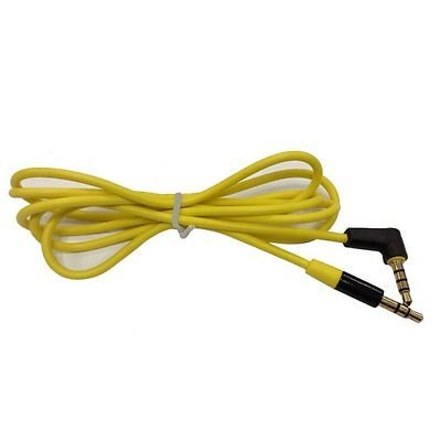 """Yellow 3.5mm 1/8"""" Headphone Audio Replacement Cable Car AUX Cord For Soul Elite"""