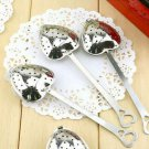 1 x Heart Shape Stainless Steel Tea Infuser Spoon Strainer Steeper Handle Showe Gift