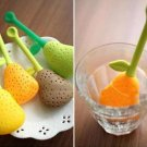 2 x Silicone Pear Design Tea Leaf Strainer Herb Spice Infuser Teacup Pot Filter