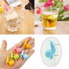 5pcs Cute Snail Shape Silicone Tea Bag Holder Cup Mug Candy Colors Gift Set