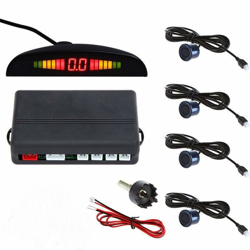 Blue Car Parking Sensor Assistance Reverse Backup Radar Monitor System (TOM-parking sensor)