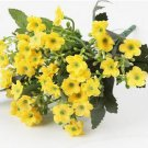 1 Yellow Bouquet Artificial Orchid Silk Flower Leaf Home Decor (301246432698)