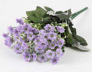 1 Light Purple Bouquet Artificial Orchid Silk Flower Leaf Home Decor (301246432698)