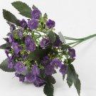 1 Dark Purple Bouquet Artificial Orchid Silk Flower Leaf Home Decor (301246432698)