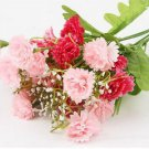 Pink Artificial Chrysanthemum Carnation 23 Head Flower Bush Bouquet Home Wedding(291193054339)
