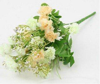 Champange Artificial Chrysanthemum Carnation 23 Head Flower Bush Bouquet Home Wedding(291193054339)