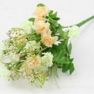 Champange Artificial Chrysanthemum Carnation 23 Head Flower Bush Bouquet Home Wedding(291193054339)