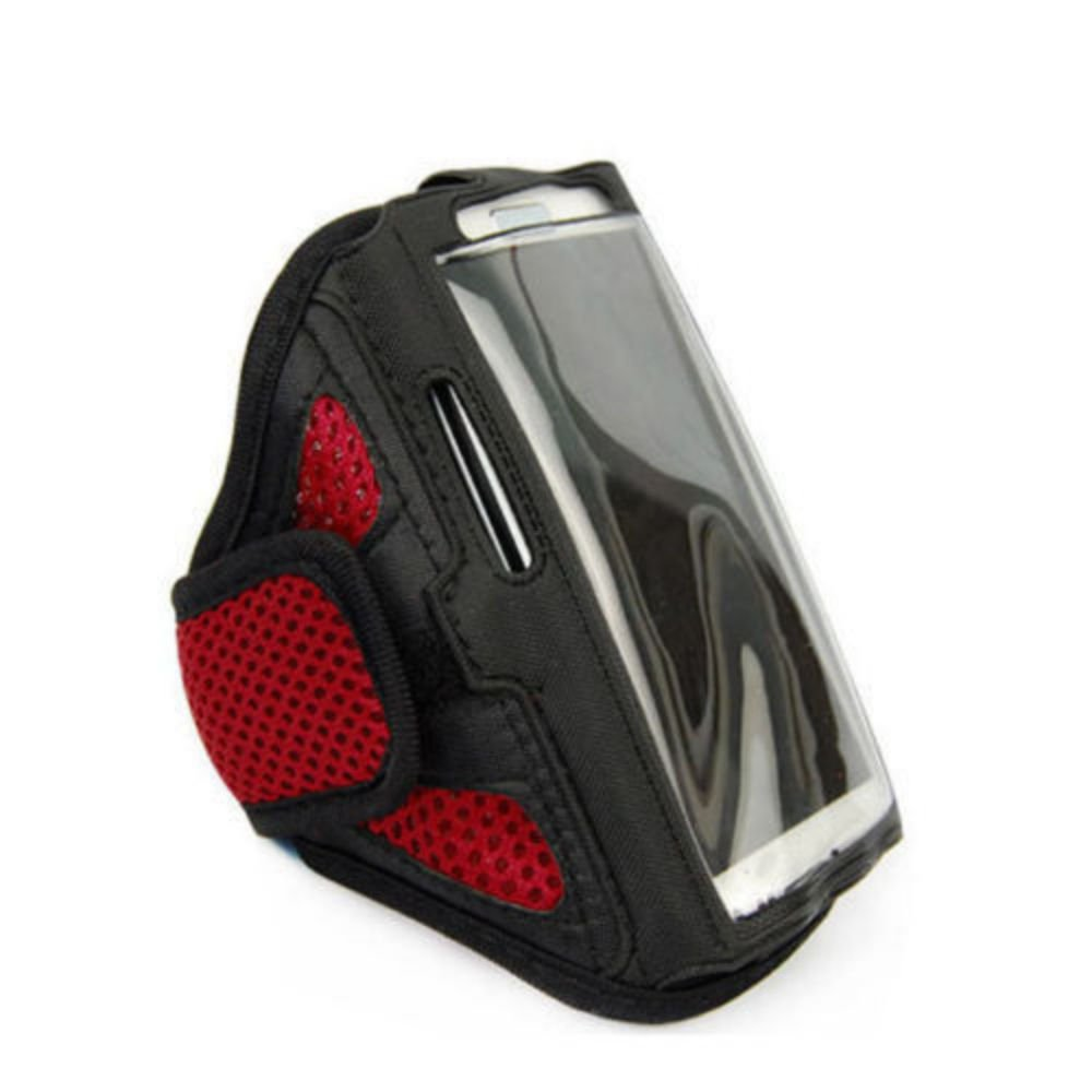 """Red For iPhone 6 4.7"""" Sports Running Cycling Mesh Armband Phone Case Cover"""