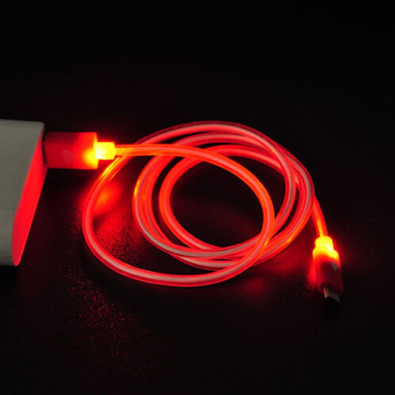 Red LED Light USB 2.0 Male A to B 1.0m Cable Type Data Charger For Samsung Dealsbest