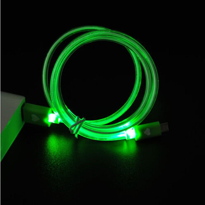 Green LED Light USB 2.0 Male A to B 1.0m Cable Type Data Charger For Samsung Dealsbest