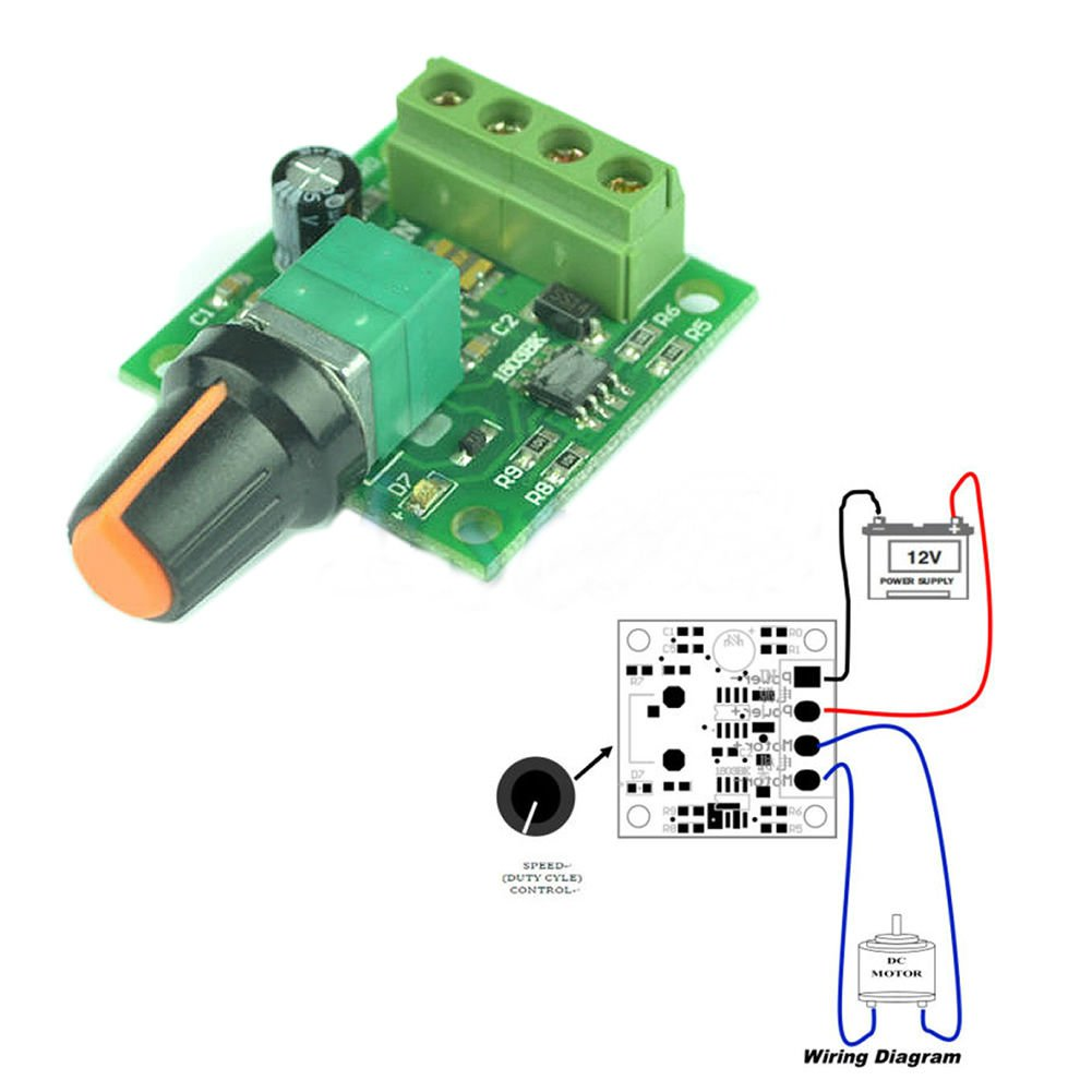 DC 1.8V 3V 5V 6V 12V 2A Low Voltage Motor Speed Controller PWM 1803B Dealsbest