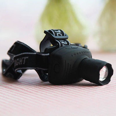Cree Q5 High Power Bright Zoom Flashlight 3-modes LED Fishing Headlight Headlamp DB