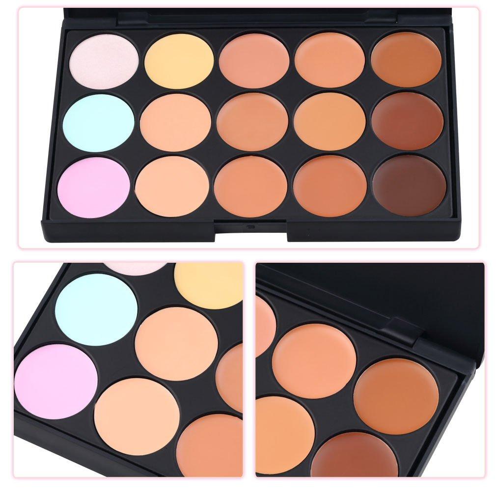 15 Colors Professional Salon/Party Contour Face Cream Makeup Concealer Palette DB
