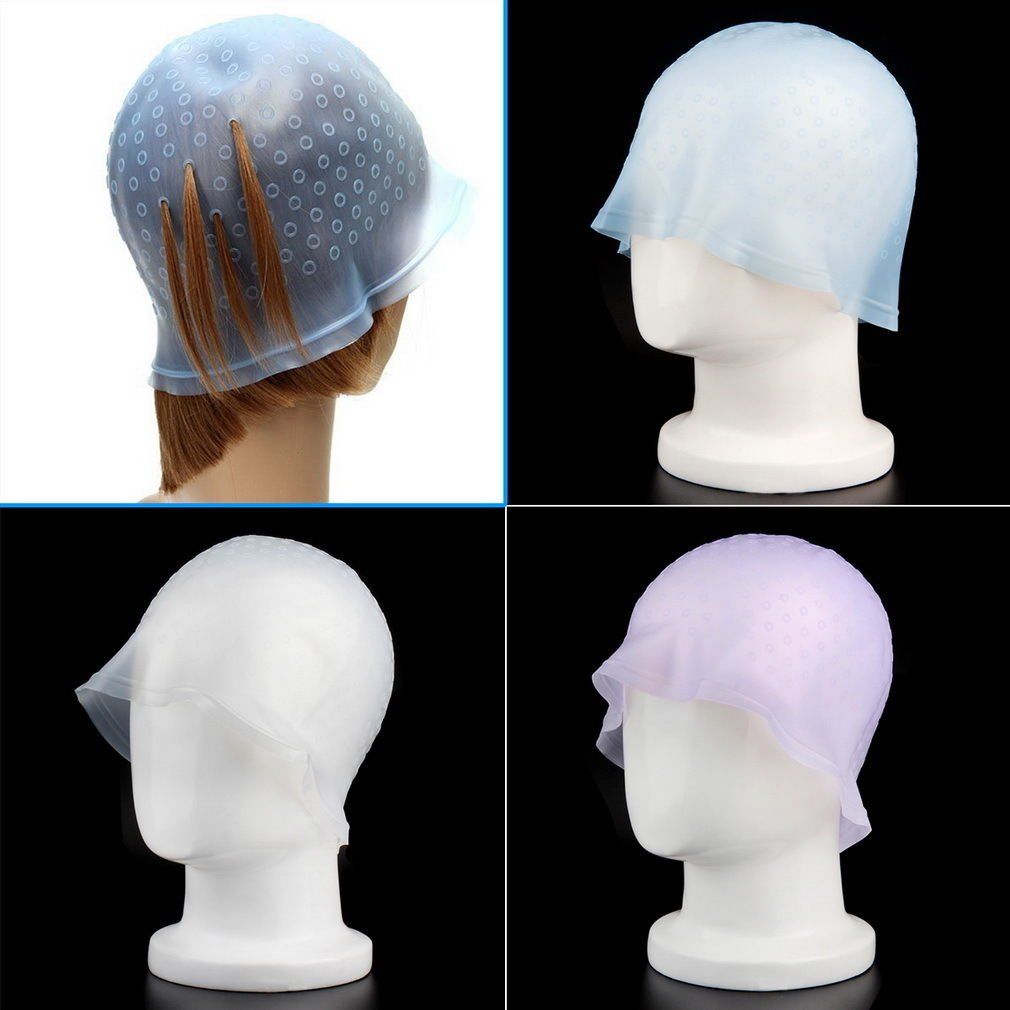 1 Pcs Hair Salon Coloring Hairdressing Highlighting Bleach Dye Cap Hook Color Tipping