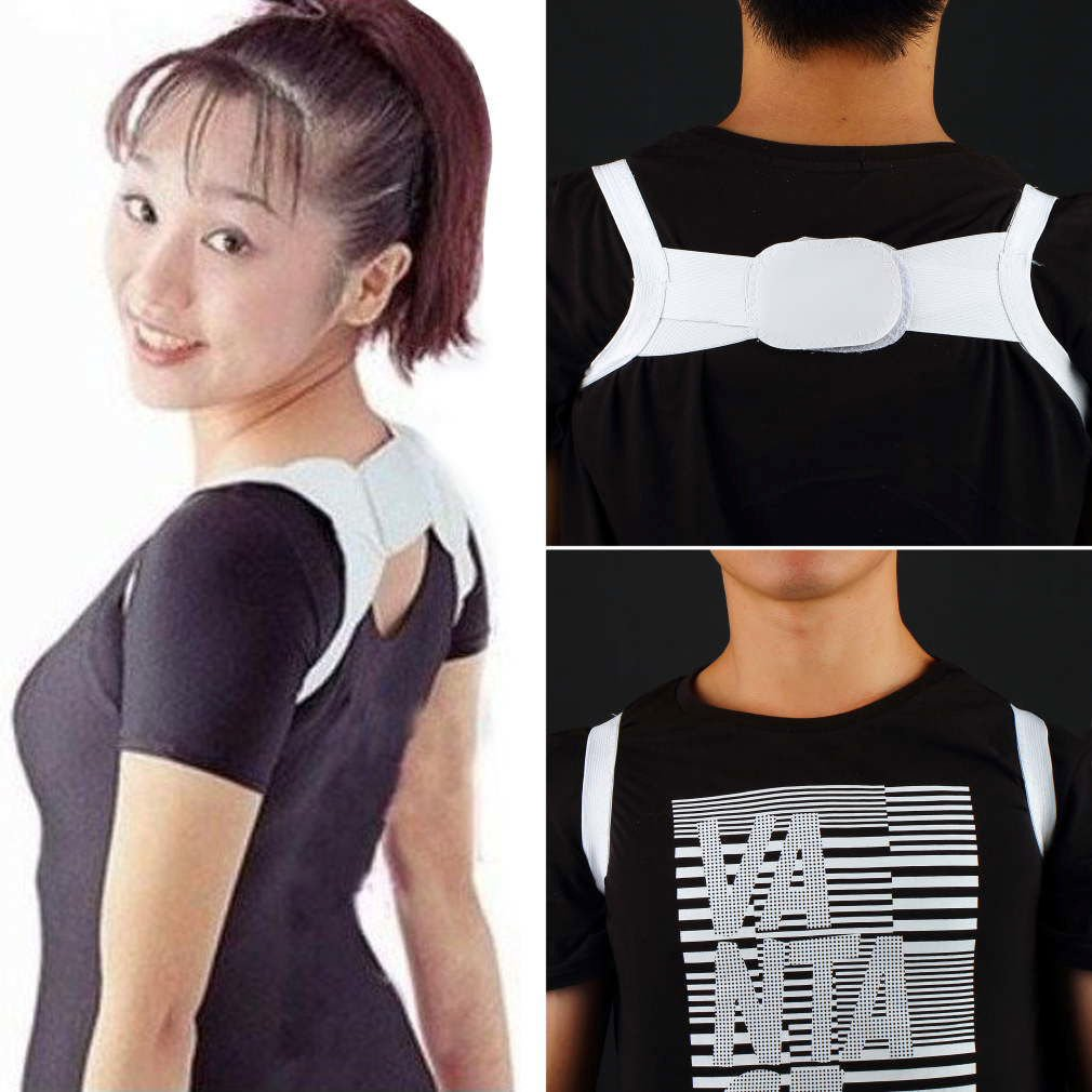 Adjustable Therapy Back Support Brace Belt Band Posture Shoulder Corrector