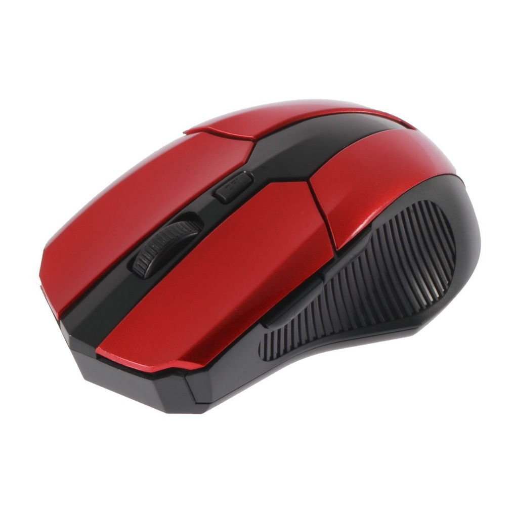 Red 2.4 GHz Wireless Optical Mouse Mice + USB 2.0 Receiver for PC Laptop