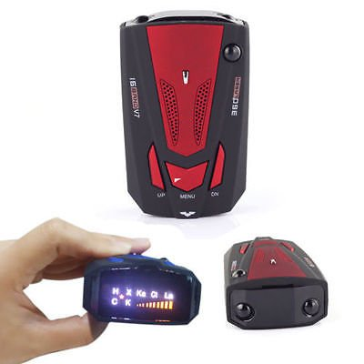 Car GPS Radar Detector 16 Band Voice Alert Laser V7 LED Display