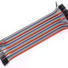 Male to Famale 40PCS Jumper Wire Cable 1P-1P 2.54mm 20cm For Arduino Breadboard Sale