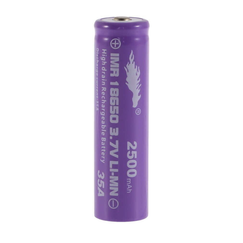 1pcs High Drain Rechargeable Battery 18650 35A 3.7v LI-MN 2500mAh
