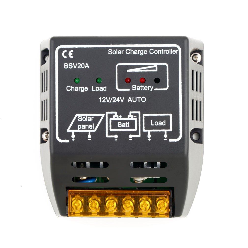 20A 12V/24V Solar Panel Charge Controller Battery Regulator Safe Protection DB