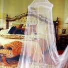 White 1PCS Elegant Round Lace Insect Bed Canopy Netting Curtain Dome Mosquito Net db