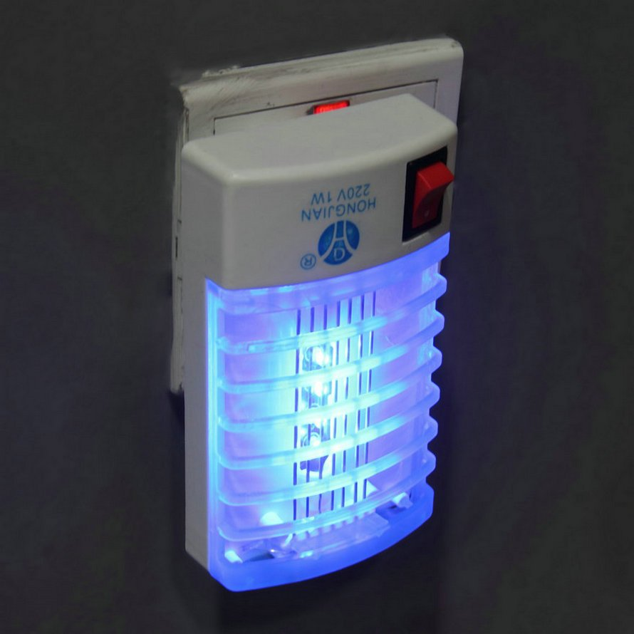 LED Socket Electric Mosquito Fly Bug Insect Trap Night Lamp Killer Zapper DB