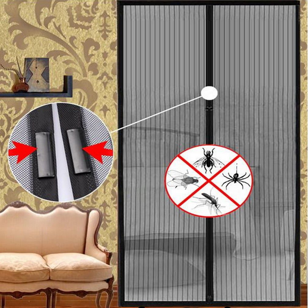 Mesh Insect Fly Bug Mosquito Door Curtain Net Netting Mesh Screen Magnets DB
