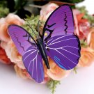 12pcs Purple 3D Butterfly Sticker Art Design Decal Wall Home Decor Room Decorations db
