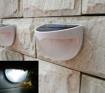 Solar Power Powered Outdoor Garden Light Gutter Fence Wall Roof Yard LED Lamp db