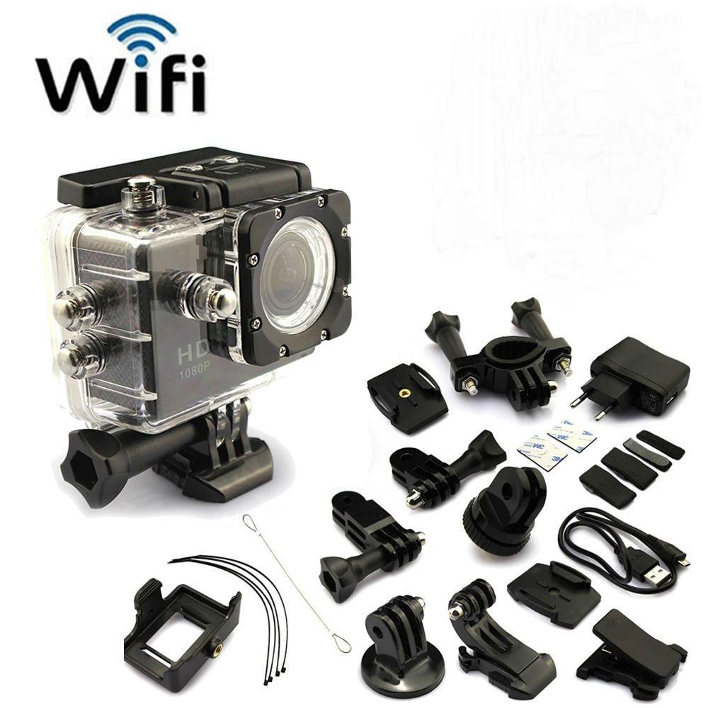 Black SJ4000 12MP HD 1080P WIFI Waterproof Helmet Sport Camera Action db