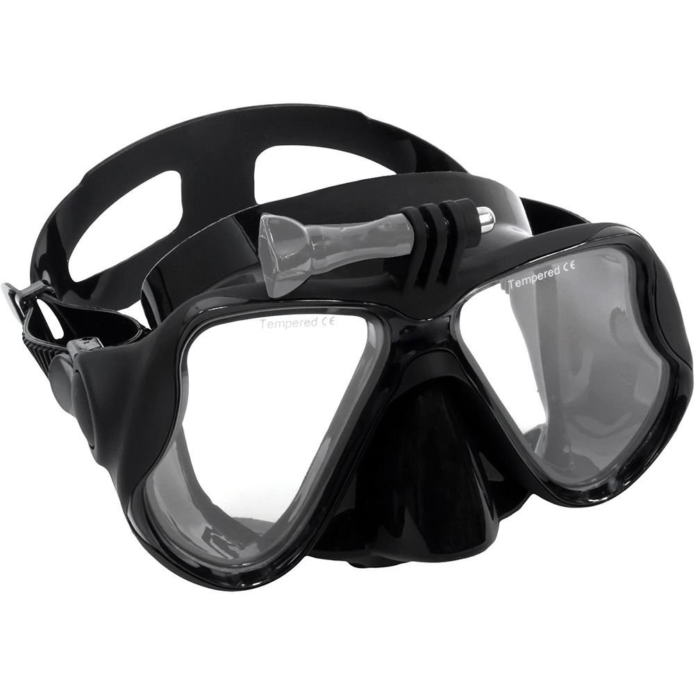 Black GoPro Hero 2 3 3+ 4 Scuba Diving Glasses Swimming Face Mask Snorkel Camera Mount db