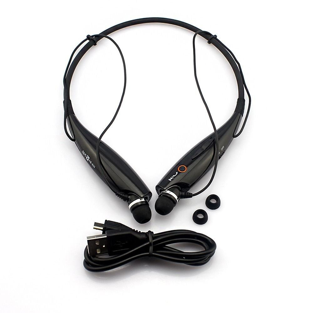 Black Universal Wireless Bluetooth Sports Stereo Headset Headphone For iPhone For Sony db