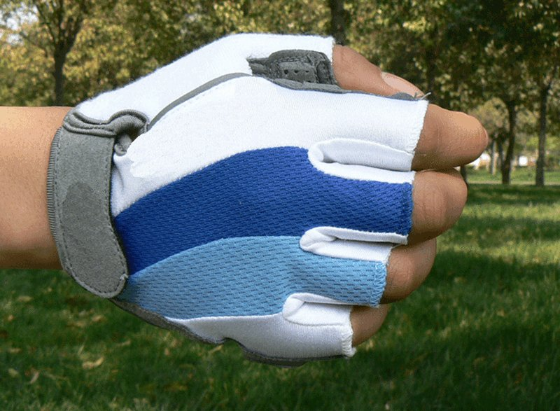 Size L Cycling Bicycle Bike Motorcycle Gel Silicone Half Finger Fingerless Gloves DB