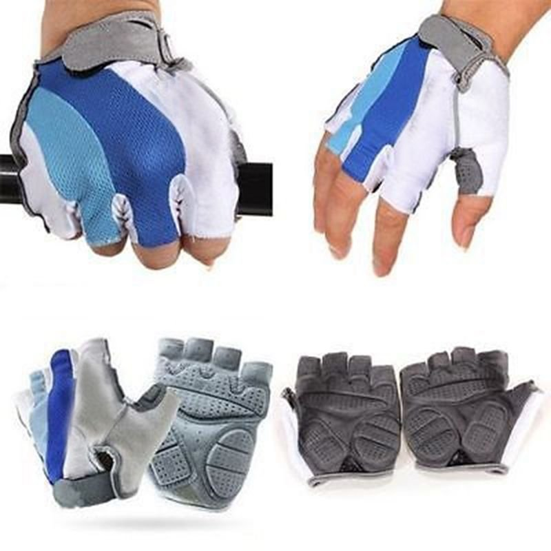 XL Fingerless Sports Cycling Bicycle Gloves Half Finger Breathable  Palm Padded