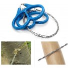 Outdoor Steel Wire Saw Scroll Emergency Travel Camping Hiking Survival Tool DB