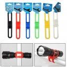 5Pcs Cycling Bicycle Flashlight Mount Holder Silicone Elastic Strap Bandage DB