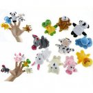 10 Pcs Cute Farm Animal Finger Puppets Learn Bed Time Story Baby Child Velvet Toy DB
