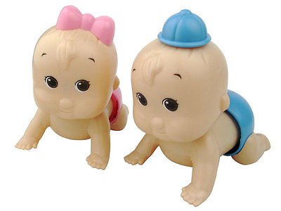 Boy and Girl Windup Crawling Crawl Toy Doll Christmas Gift for Child Baby Kid DB