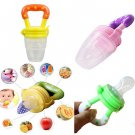 1 x Size M Yellow Color Baby Pacifiers for feeding Baby Nibbler Feeder Feeding Tool DB