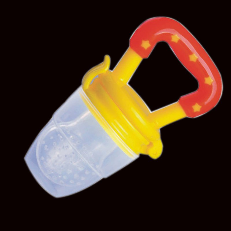 1 x Size S Yellow Color Baby Pacifiers for feeding Baby Nibbler Feeder Feeding Tool DB