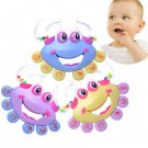 1 Pcs Crab shape Toy For Kids Baby Handbell Musical Instrument Jingle Shaking Rattle Toy DB