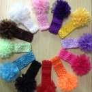 12pcs Kids Girl Baby Toddler Lace Flower Headband Hair Band Accessories Headwear DB