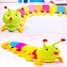 Colorful Inchworm Soft Lovely Developmental Kids Baby Toy Doll Toy DB