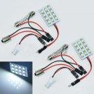 2pcs White 12 LED Panel 1210 SMD Interior Dome Light T10 Festoon BA9S Bulb Lamp DB