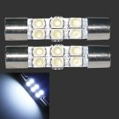 2×1.2W 50lm 6-SMD 1210 LED White Light 29mm Festoon Car Reading Lamp Bulb 12V DB