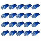 20 x Blue High Power T8 194 168 W5W LED Vehicle Signal Lights DC 12V Bulb Lamp DB